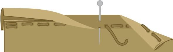 Bild vom Einfassen mit Schrägband
